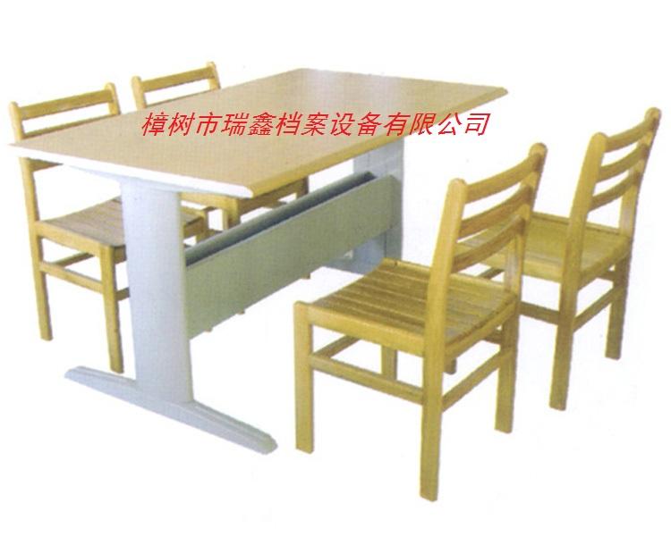 RX-YL03四人钢木阅览桌